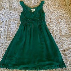 Anthropologie lovely emerald green dress